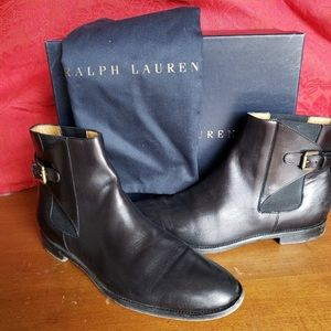 Ralph Lauren Collection Quiana Leather Ankle Boots